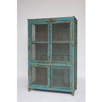 Turquoise painted larder cupboard