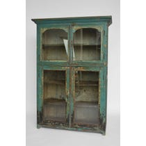 Rustic glazed painted cupboard