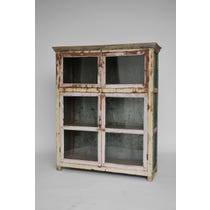 Rustic glazed painted cabinet