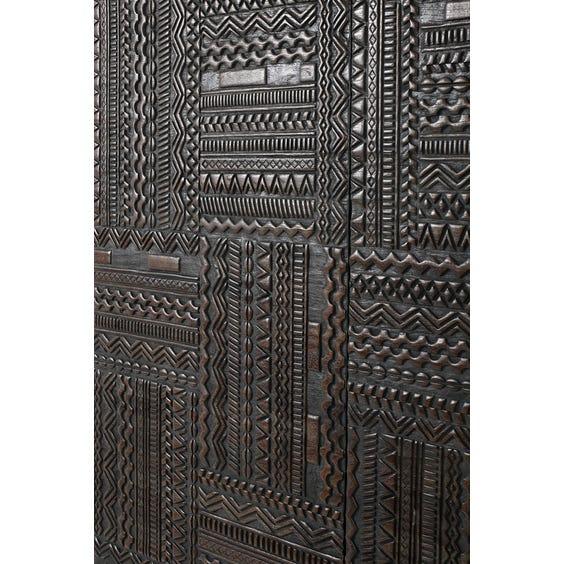 Modern ebonised teak credenza cabinet image
