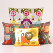 Example of bright coloured cushions