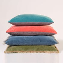 Example of velvet cushions