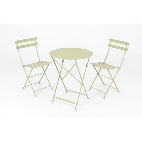 Willow green bistro folding chair image