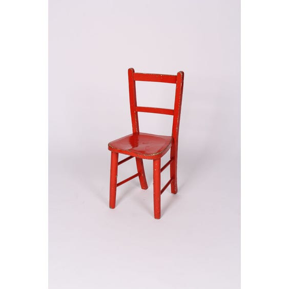Red painted wooden child's chair image
