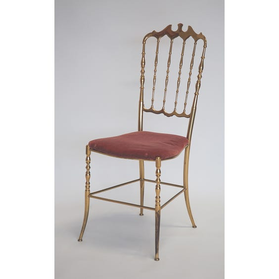 Gold bamboo chair apricot seat image