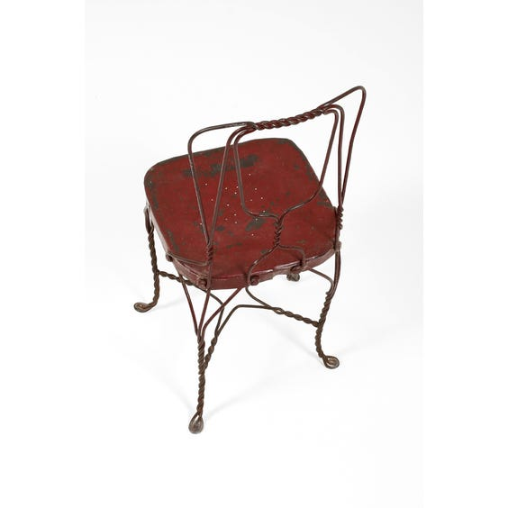 Rustic metal twisted wire chair image