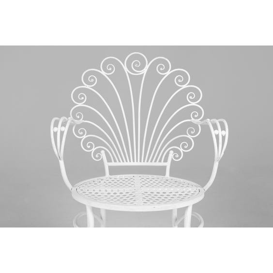 White garden metal chair image