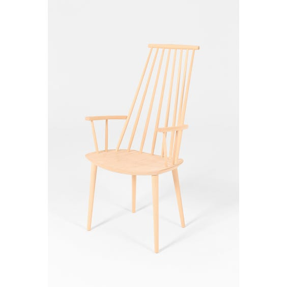 Danish pale high spindle back chair image
