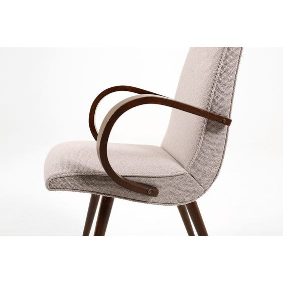 Midcentury mauve loop arm chair image