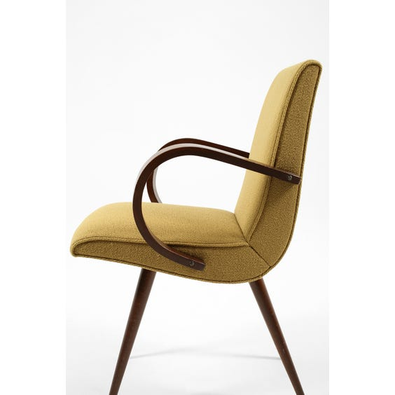 Midcentury mustard loop arm chair image