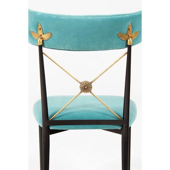 Aqua blue velvet occasional chair image