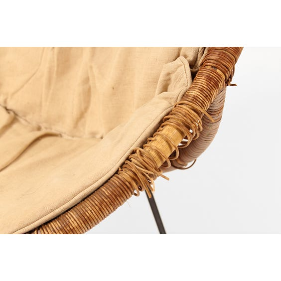 Vintage distressed wicker bucket chair image