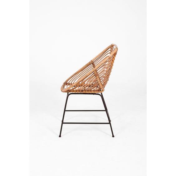 Midcentury Dutch cane chair image