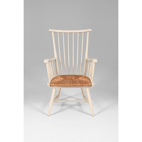 Vintage painted spindle back chair image