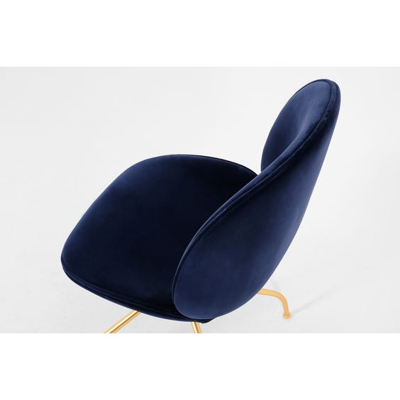 Beetle swivel blue velvet chair image