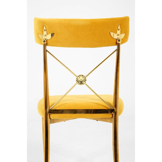 Gold velvet occasional chair image