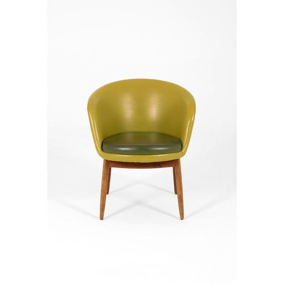Avocado vinyl tub chair image