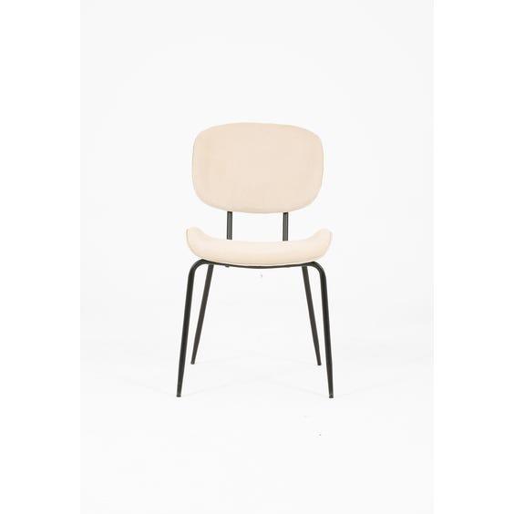 Oyster velvet dining chair image