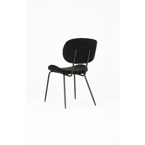 Black chenille dining chair image