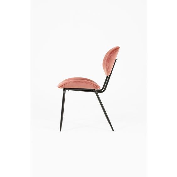 Dusky pink velvet dining chair image