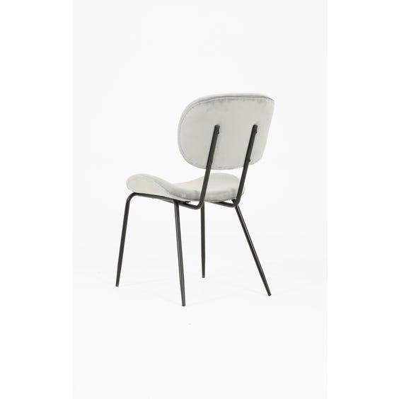 Silver grey velvet dining chair image
