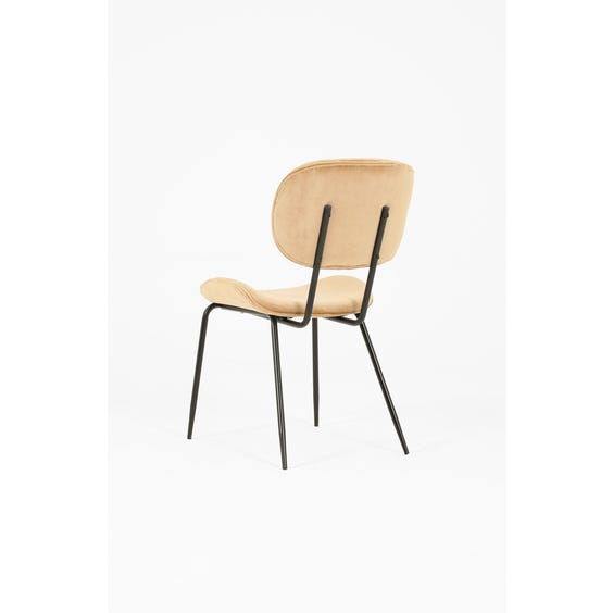 Sand velvet dining chair image