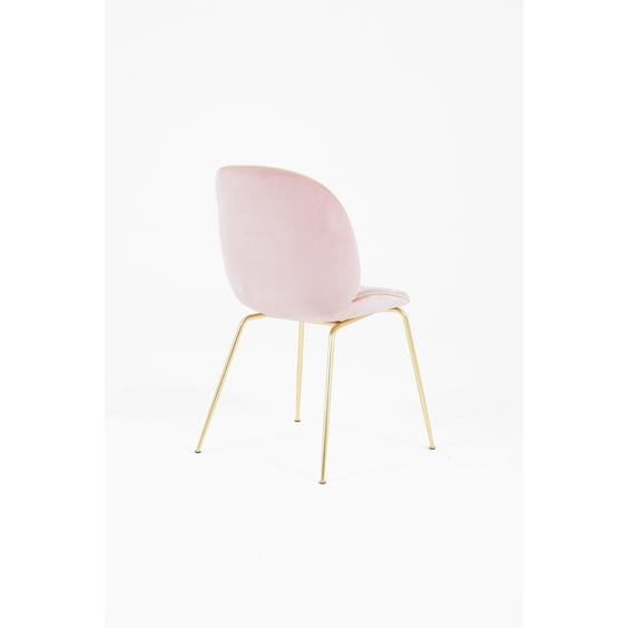 Powder pink beetle velvet chair image