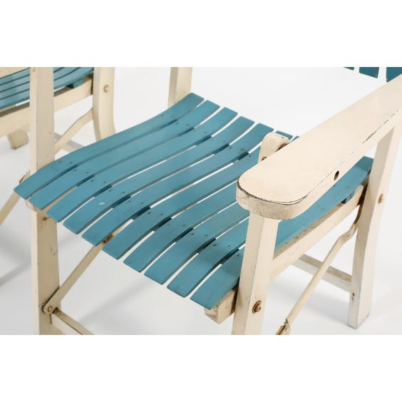Midcentury French folding garden chair image