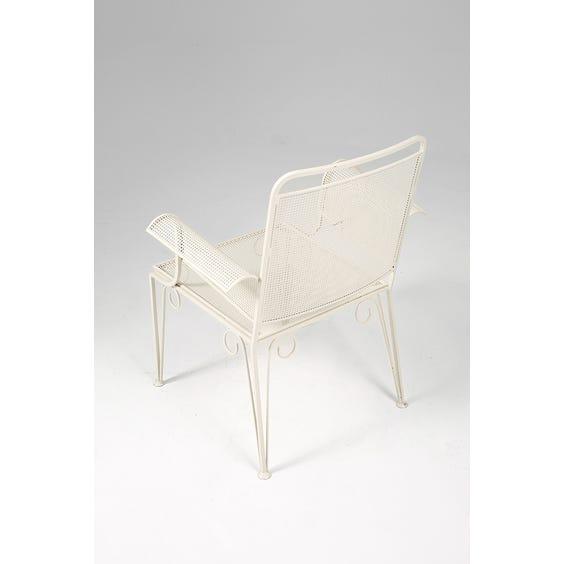 Midcentury iron garden chair  image
