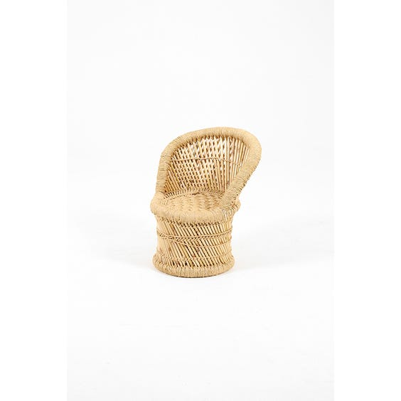 Child's rattan peacock chair image