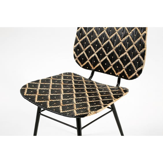 Modern diamond design chair image