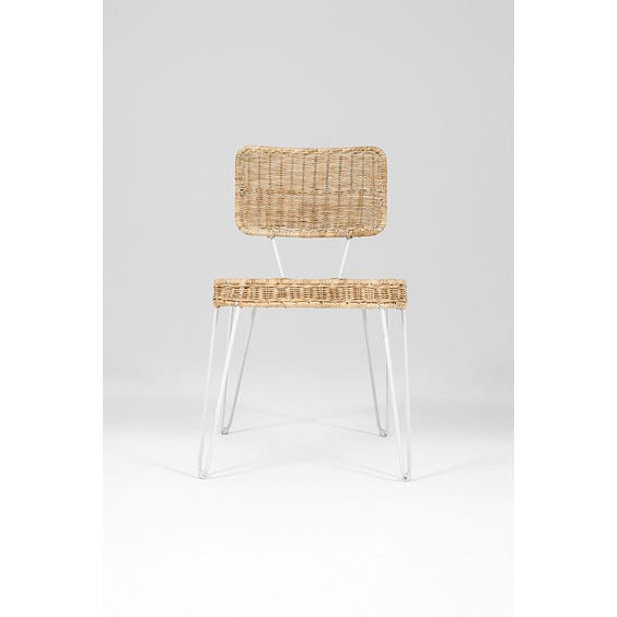 Dutch woven wicker dining chair  image