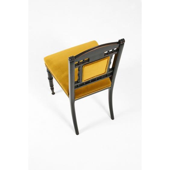 Victorian gold velvet chair  image