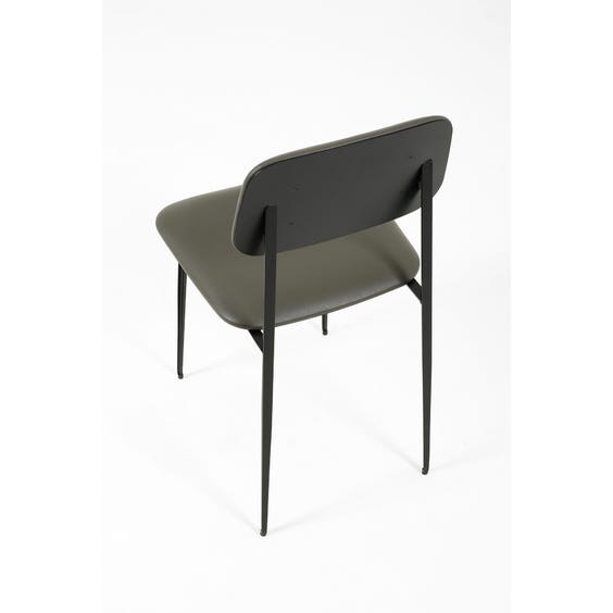Modern grey leather dining chair  image