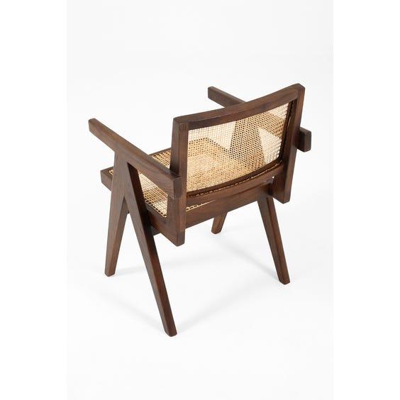 Dark teak Pierre Jeanneret chair image