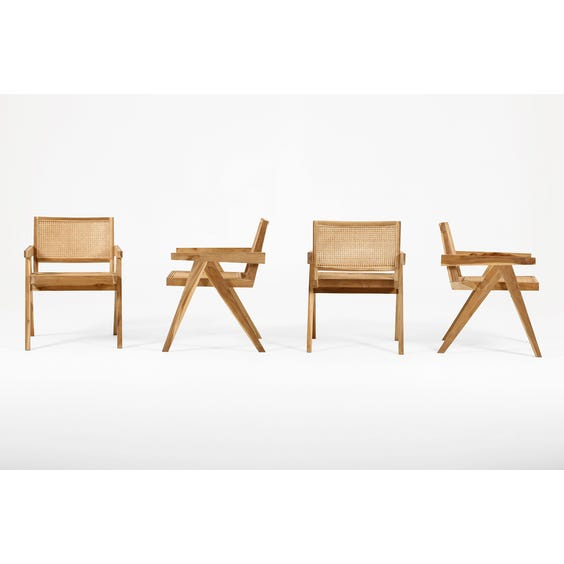 Raw and natural teak occasional chair  image
