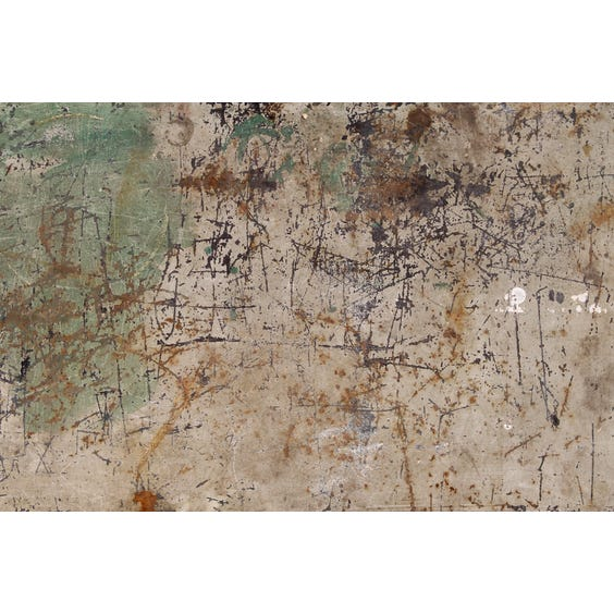 French distressed painted metal table image