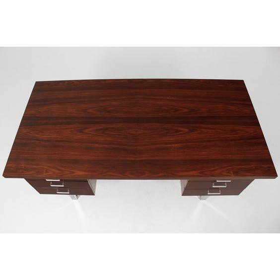 Large midcentury dark rosewood desk image