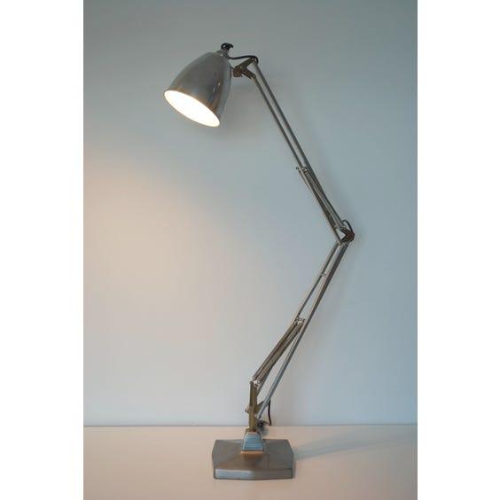 Polished steel Anglepoise desk lamp image