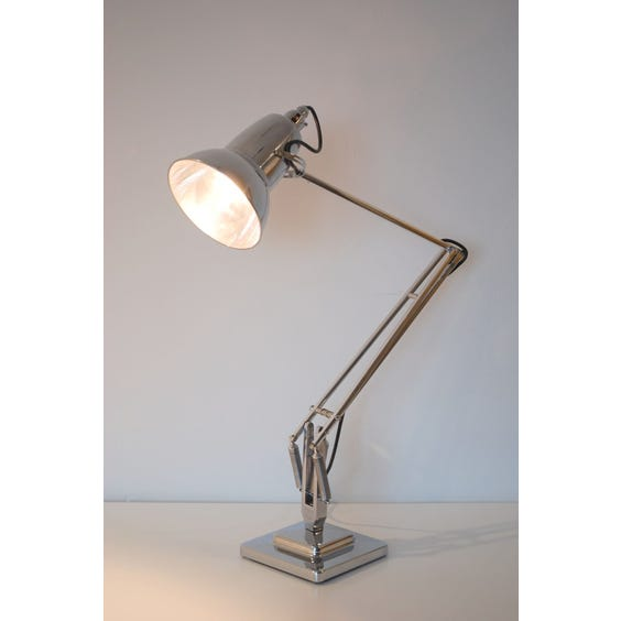 Heavy chrome Anglepoise desk lamp image