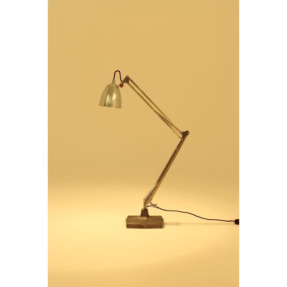 Period dark metal Anglepoise lamp image