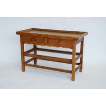Rustic pine wood dressing table