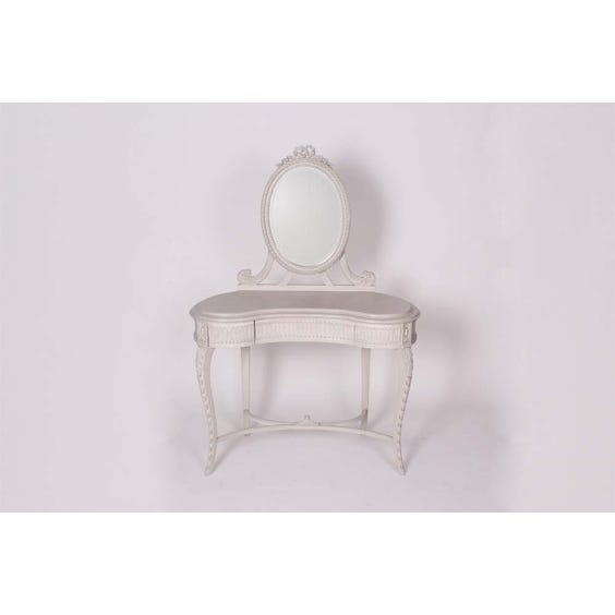 Grey carved kidney dressing table image