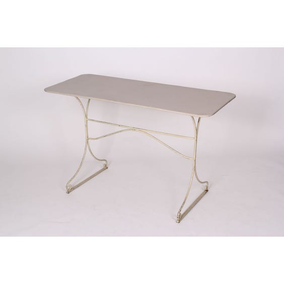 Cream French metal dining table image