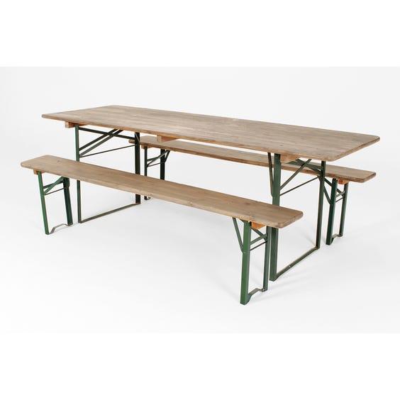 Stripped pine bench image