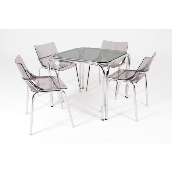 1970s chrome square dining table image