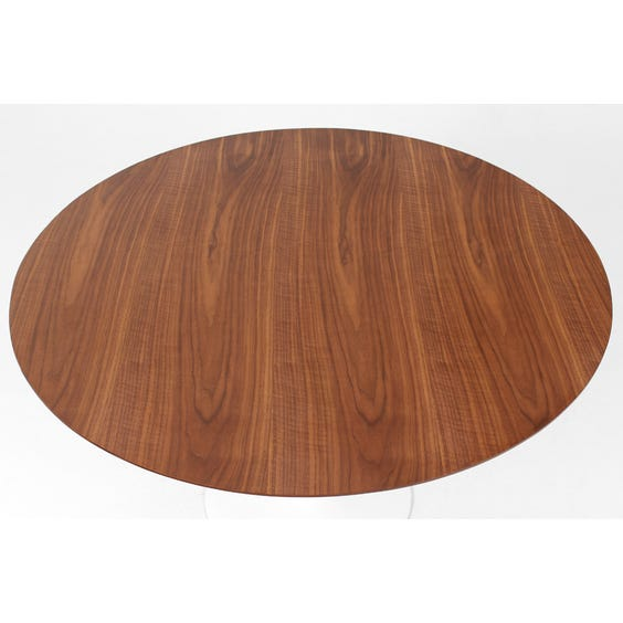 Saarinen walnut top dining table image