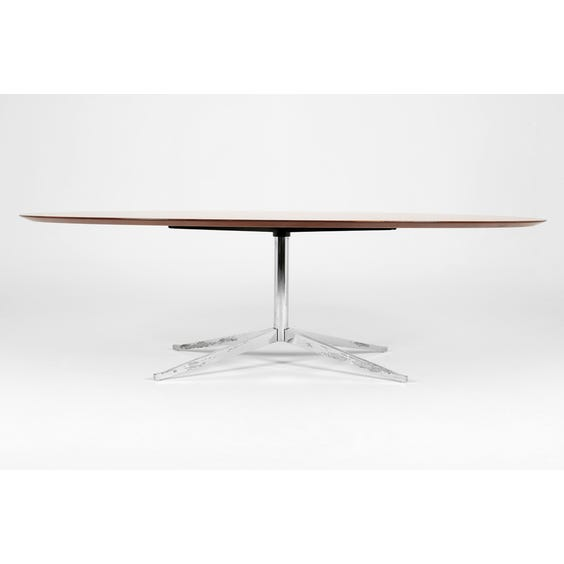 Midcentury oval walnut table  image