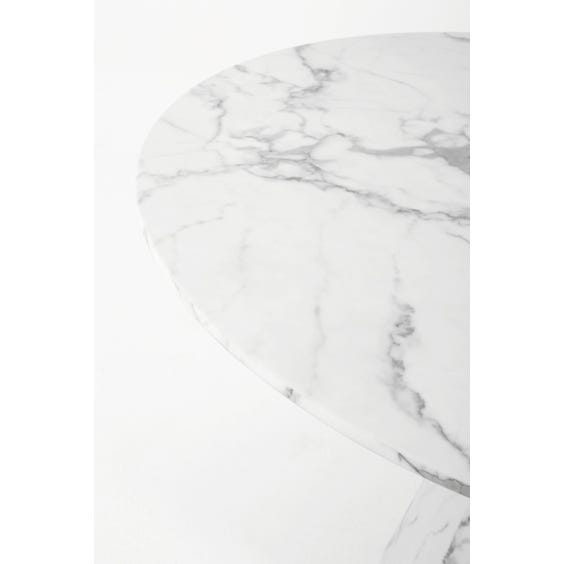 Veined faux marble dining table image