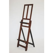 Wooden and black tiered easel